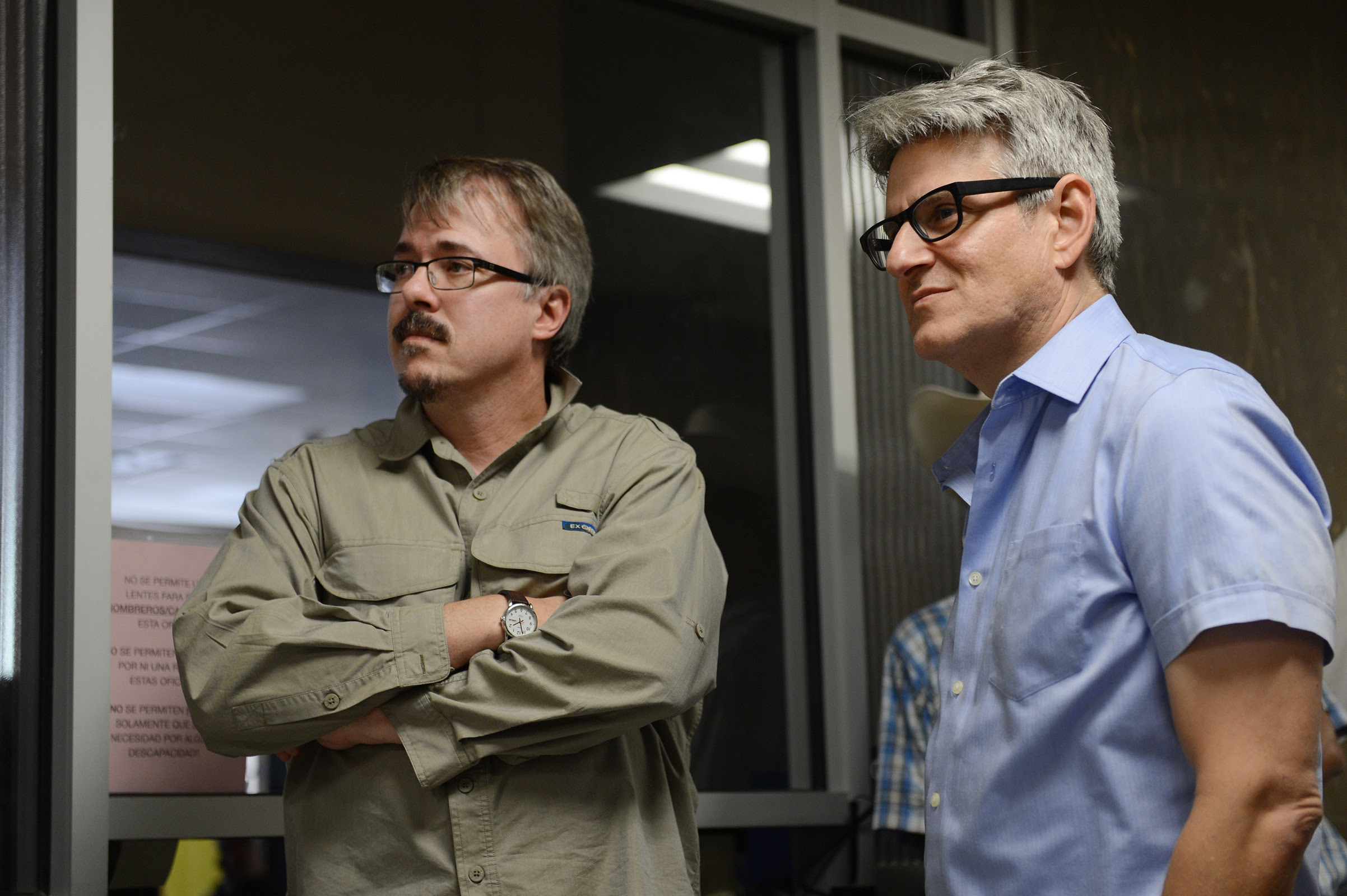 Vince Gilligan and Peter Gould - Better Call Saul _ Season 2, Episode 1 _ BTS - Photo Credit: Ursula Coyote/ Sony Pictures Television/ AMC