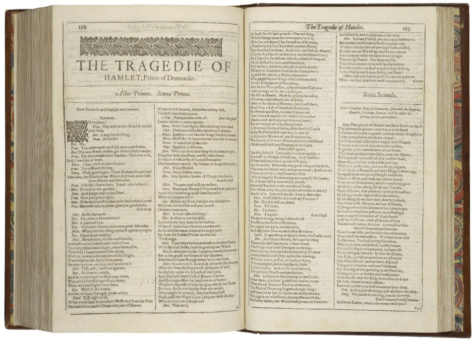 First-page-first-folio-Hamlet