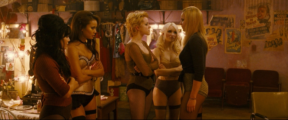 """(L-r) VANESSA HUDGENS as Blondie, JAMIE CHUNG as Amber, JENA MALONE as Rocket, EMILY BROWNING as Babydoll and ABBIE CORNISH as Sweet Pea in Warner Bros. Pictures' and Legendary Pictures' epic action fantasy """"SUCKER PUNCH,"""" a Warner Bros. Pictures release."""